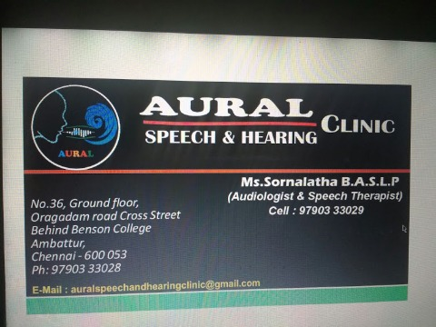 Aural Speech & Hearning Clinic, Chennai