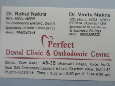 perfect dental clinic & orthodontic centre, New Delhi