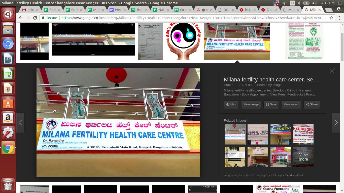 Milana Fertility Health Center, Bangalore