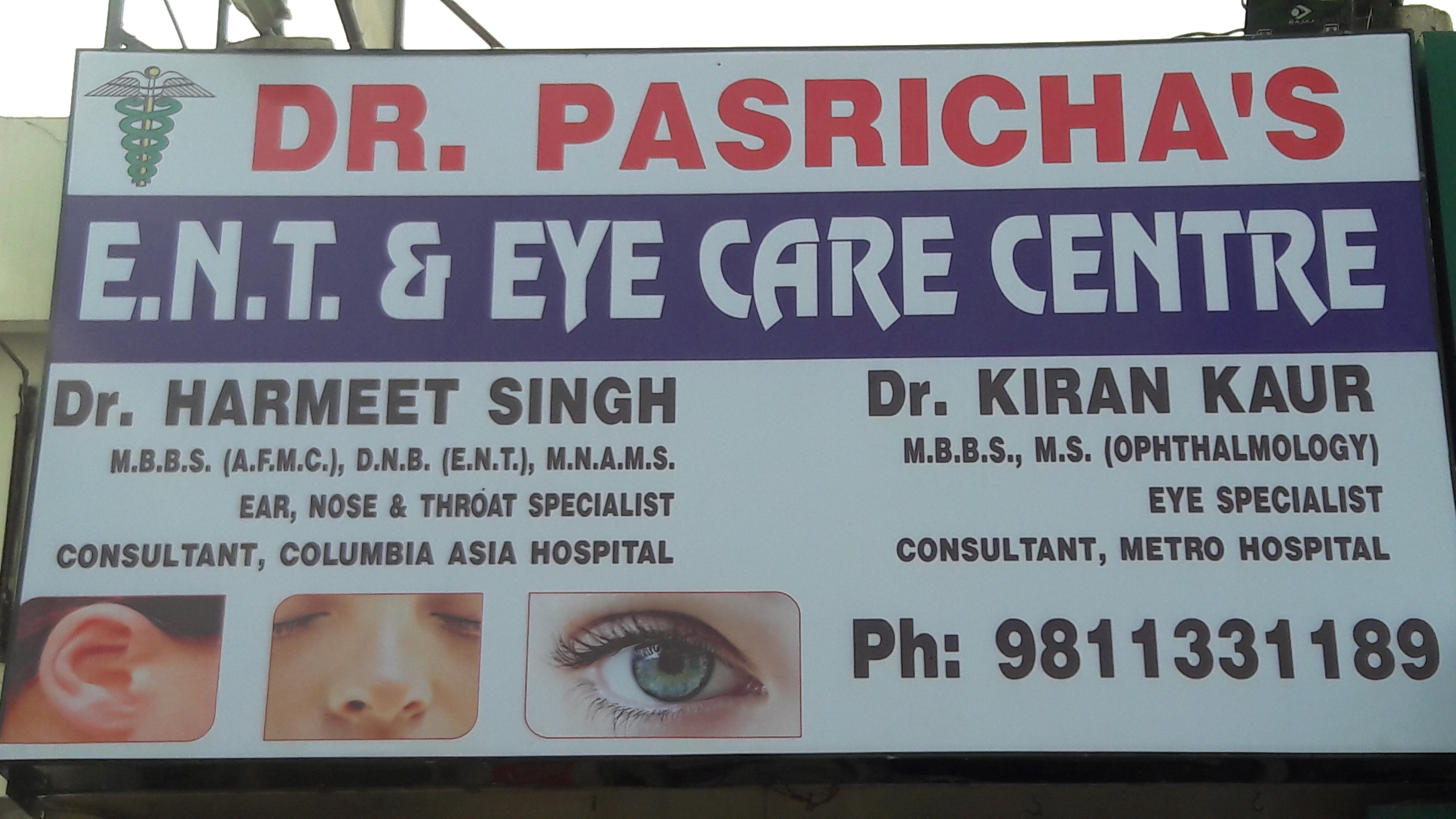 Dr. Pasricha's E.N.T. & Eye Care Centre, Gurgaon