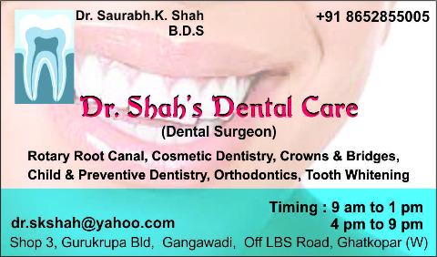 Dr.Shah's Dental Care | Lybrate.com