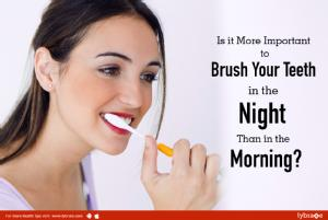 Why it's more important to brush your teeth in the night than in the morning<br/><br/>Most people...